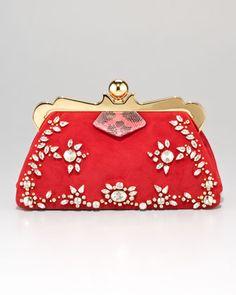 Embellished Framed Clutch Bag - Bergdorf Goodman