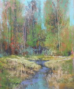 Spring Creek  2014 by Tom Christopher Pastel ~ 20 x 16