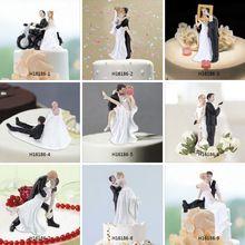 Hoge Kwaliteit Synthetische Hars Bruid & Bruidegom Cake Topper Romantische…
