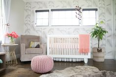 A Modern Jungle Nursery in Every Shade of Pink