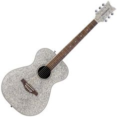 Daisy Rock Pixie Acoustic Guitar, Silver Sparkle ** You can get additional details at the image link. Taylor Swift Party, Taylor Swift Guitar, Taylor Guitars, Pink Guitar, Guitar Diy, Guitar Case, Pixie, Daisy, Guitar For Beginners