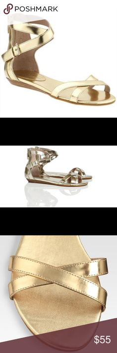 Rebecca Minkoff Bettina Metallic Leather Sandals Rebecca Minkoff Bettina Metallic leather sandals Rebecca Minkoff Shoes Sandals