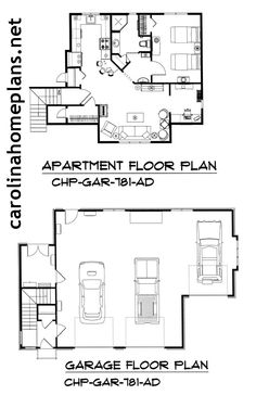 Car Garage Apartment Plan Lots Of Storage And Workshop Space