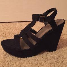 Black wedges All black suede wedges Shoes Wedges