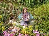 sad Elfi Diorama, Garden Sculpture, Outdoor Decor, Polymer Clay, Fairy, Dioramas