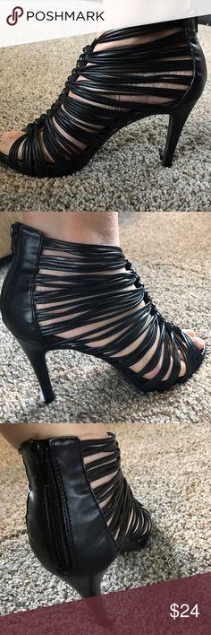 "Aldo strapped caged stilettos Aldo strappy caged heels.  Excellent condition.  Heels are 4"" high. Aldo Shoes Heels"