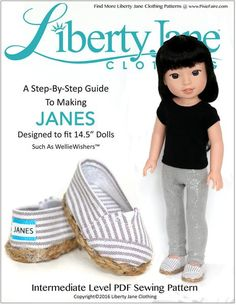 JANES SHOES FOR WELLIEWISHERS DOLLS