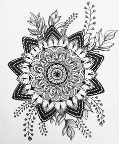"""90 Likes, 3 Comments - Caro (@thefrenchdoodle) on Instagram: """"Anotha one ✍ . . . . . . . . #featuredmandalas #zendoodleart_feature #blackworkillustrations…"""""""