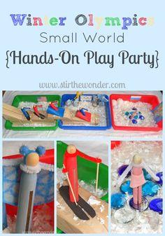 Winter Olympics Small World | Stir the Wonder #kbn #handsonplay #smallworld