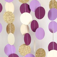 Purple Wedding Garland Paper Garland Purple by Spiceandsprinkle