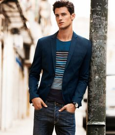 Street style: Mens Casual Fashion Style: 50 Looks to Try Fashion Terno Casual, Casual Chique, Style Casual, Smart Casual, Semi Casual, Work Casual, Sharp Dressed Man, Well Dressed, Looks Jeans