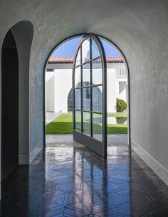 'Entry Design • Period modern' residence, Beverly Hills. Ruard Veltman Architecture, Charlotte, NC