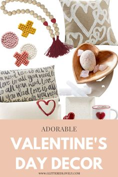 Great home decor to decorate for Valentine's Day. #valentinesdaydecor #homedecor