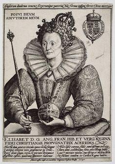 Engraving of Queen Elizabeth I  Place of origin:Köln (city), Germany (engraved)  Date:1592 (made)  Artist/Maker:Passe, Crispijn de (I), born 1564 - died 1637 (engraver)  V & A Museum number:E.3000-1960