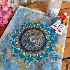 Mandalascreativos Art Beach Mat, Outdoor Blanket, Blue, Mandalas, Tutorials, Creativity, Artists