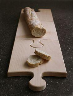 Puzzle - Holz-Schneidebrett  #liekenurkorn
