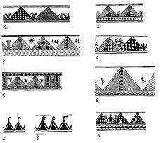 Motifs de Décors de vases et de poteries Berberes 'Kabylie - Algerie'