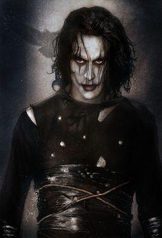 The Crow, Brandon Lee, Bruce Lee, Dark Fantasy Art, Dark Art, Crow Movie, Crow Art, Halloween Drawings, Arte Horror