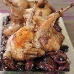 Codornices con uvas rojas #recipes #cuisine #recipes