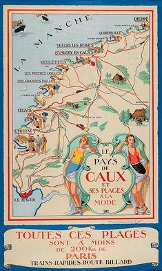 Old Advertisements, Advertising Signs, Provinces De France, France Travel, Travel Europe, Old Paris, Le Havre, Vintage Travel Posters, Normandy