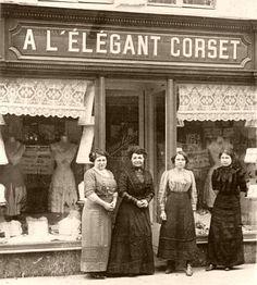 corset shop window