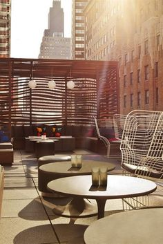 What We Love: A sunny rooftop haven in bustling NYC.  W New York - Downtown (Manhattan, New York) - Jetsetter