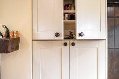 Kitchen cabinet doors and handle detail in monochrome kitchen - Sheffield…
