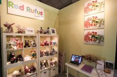 Unique gifts designed & handmade in Ireland. Our gifts can be personalised. Soft Toys Making, Handmade Toys, Unique Gifts, Exhibition Stands, Holiday Decor, Red, How To Make, Crafts, Design