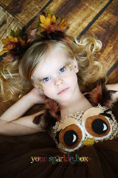 Owl tutu dress and matching headband nb 4t por YourSparkleBox