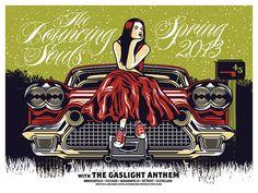 Bouncing Souls - Gaslight Anthem - US Spring Tour 2013 - Gig Poster - Car