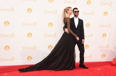 Behati Prinsloo and Adam Levine at the Emmy Awards 2014