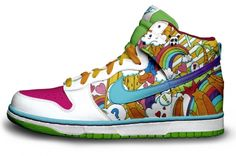 1370808.jpg (450×298)- i love the very playful feel of these shoes- it seems something out of a video game world- very playful and colorful and happy.