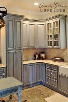 Elegant Using Chalk Paint On Kitchen Cabinets