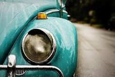 Old blue VW Bug