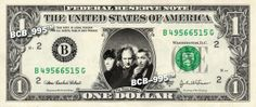 Three Stooges on Real Dollar Bill