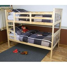 A&L Furniture Bunk Bed Color: White, Configuration: Twin over Full
