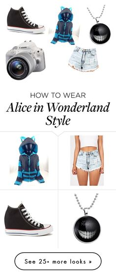 """""""cheshire"""" by lucid-torment on Polyvore featuring Eos, Converse, women's clothing, women's fashion, women, female, woman, misses and juniors"""