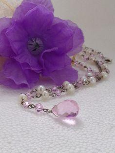 Vintage Baroque Pearl Pink Swarovski by VisualaromasVintage