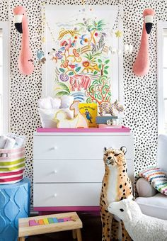 kids room, wallpaper, colorful