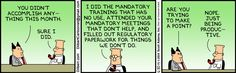 When was the last time you had a good performance appraisal.and did it help your career development? Dilbert Cartoon, Dilbert Comics, Group Theory, Work Cartoons, Office Memes, Happy May, Corporate America, You Make Me Laugh, Website Features