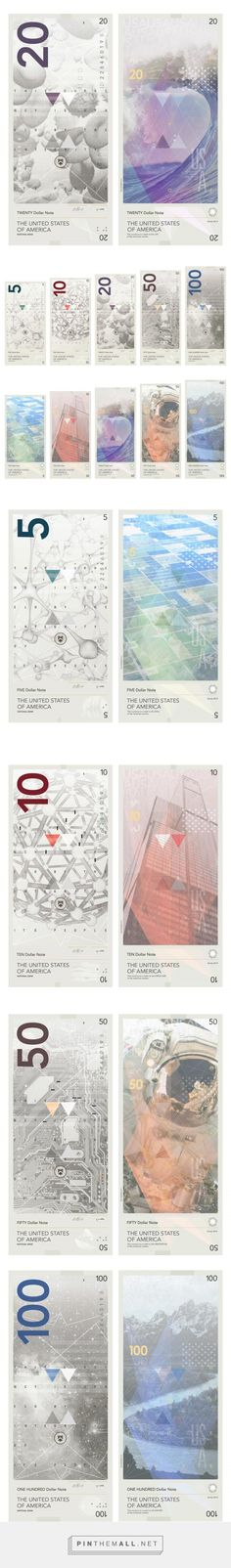 An Ultra-Modern Design Proposal for United States Dollar Banknotes - created via https://pinthemall.net