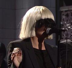 Sia on SNL.   https://www.youtube.com/watch?v=8Hg_rIqOZHc