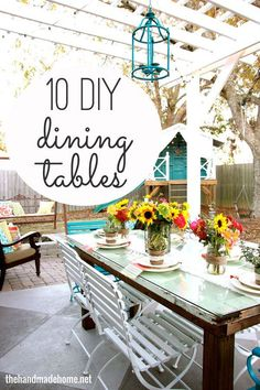 Diy Crafts Ideas : 10 ways to build your own DIY dining table.