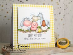 Loves Rubberstamps Sensational Sunday Blog Hop - using MFT Stamps Birdie Brown