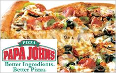 Papa John's Pizza: Buy One Get One Free  #sweeps