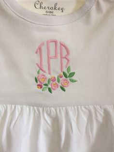 Monogram with roses!