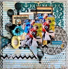 Forever Cousins  *Scraps Of Elegance**  by Rachael Funnell - Scrapbook.com