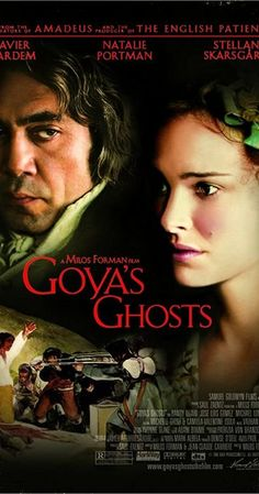 Directed by Milos Forman. With Javier Bardem, Natalie Portman, Stellan Skarsgård, Randy Quaid. Painter Francisco Goya faces a scandal involving his muse, who is labeled a heretic by a monk. Francisco Goya, Javier Bardem, Period Movies, Period Dramas, Natalie Portman, Stellan Skarsgard, Ghost Online, Ghost Movies, Art Movies