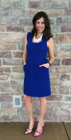 Blue Dress Floral He
