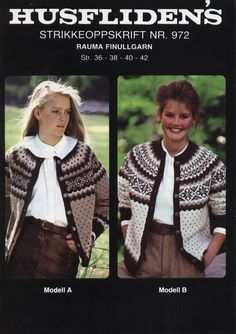 Husfliden 972 Etnic Pattern, Norwegian Knitting, Icelandic Sweaters, Fair Isle Knitting, Knitting Designs, Clothing Patterns, Knitwear, Knit Crochet, Tejidos